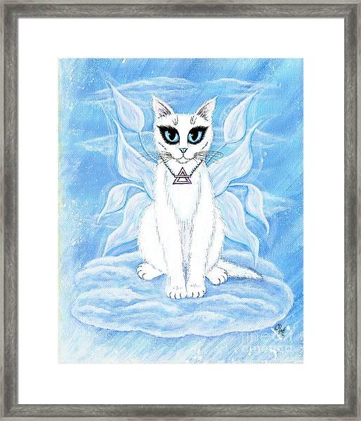 Elemental Air Fairy Cat Framed Print
