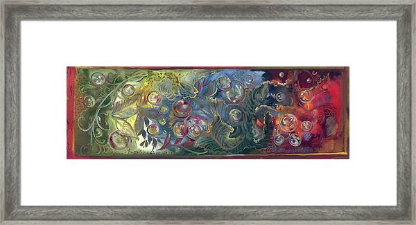 Elemental Bubbles Framed Print