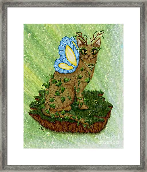 Elemental Earth Fairy Cat Framed Print