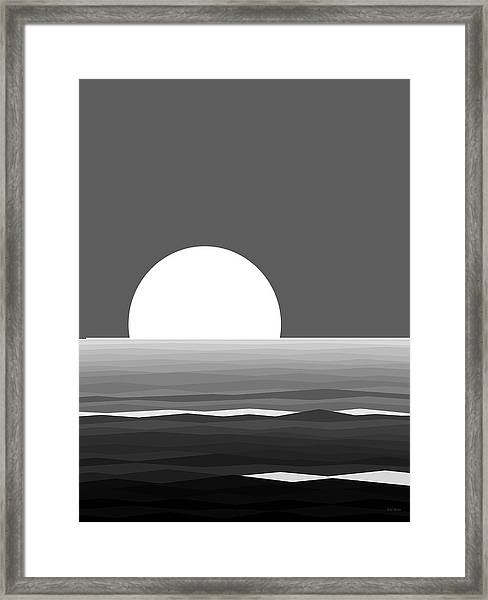 Elements - Black And White Water Framed Print