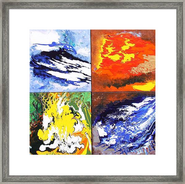 Elements Framed Print