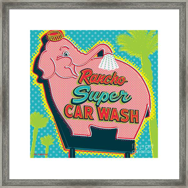 Elephant Car Wash - Rancho Mirage - Palm Springs Framed Print