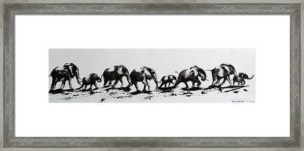 Elephant Fun Framed Print