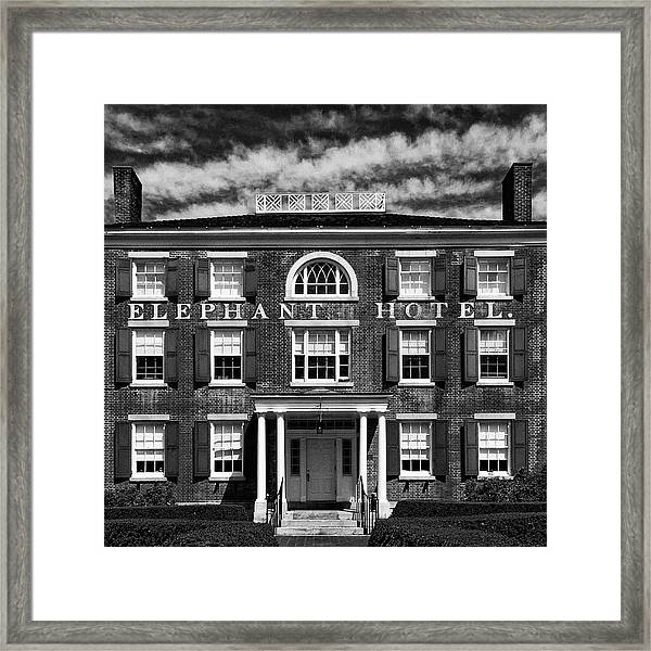 Framed Print featuring the photograph Elephant Hotel by Eric Lake
