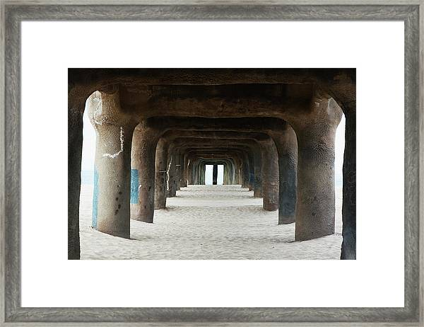 Framed Print featuring the photograph Elephant Legs by Lorraine Devon Wilke