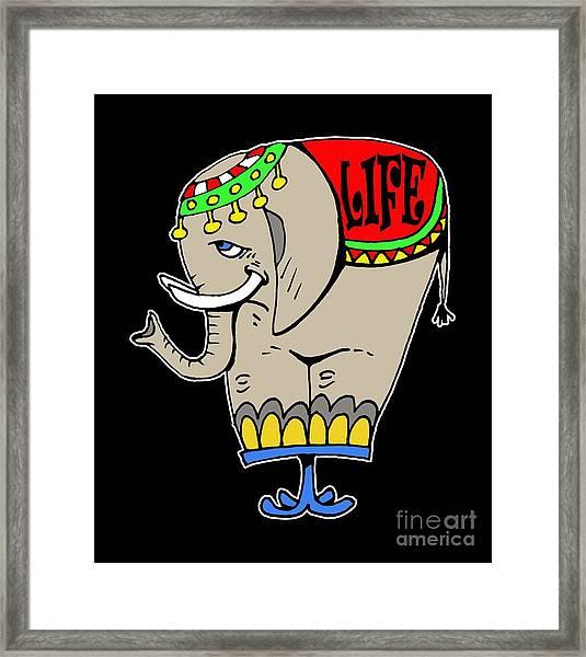 Elephant Life  Framed Print