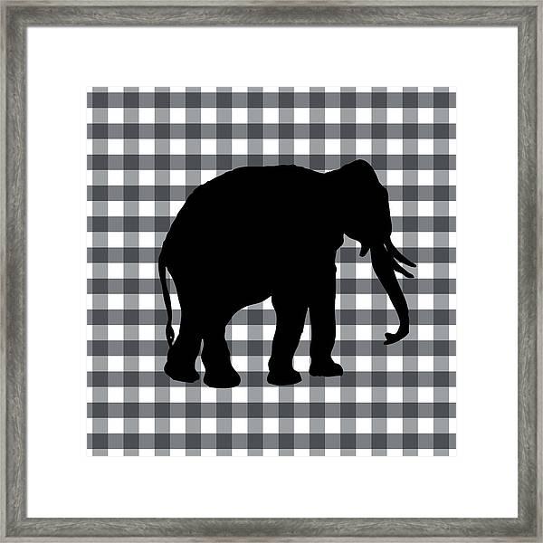 Elephant Silhouette Framed Print