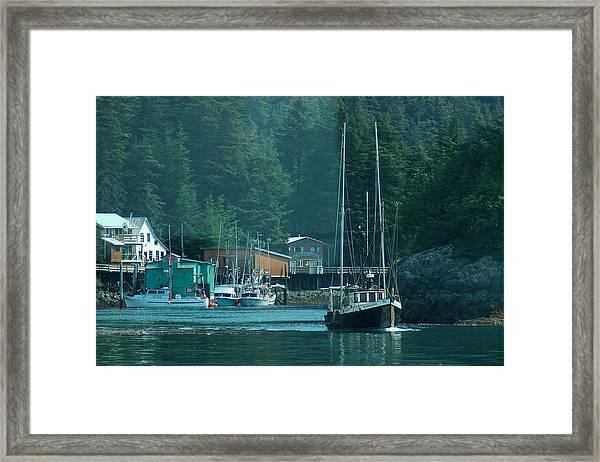 Elfin Cove Alaska Framed Print