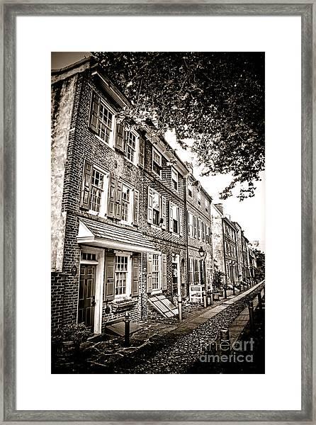 Elfreth Alley  Framed Print