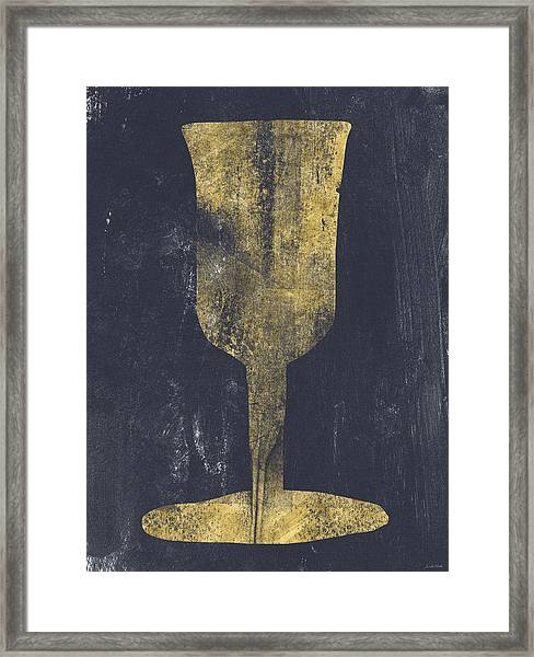Elijah's Cup - Art By Linda Woods Framed Print