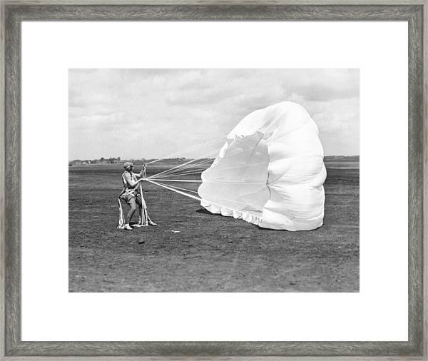Elinor Smith Parachutes Framed Print