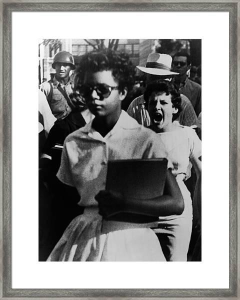 Elizabeth Eckford, One Of The Nine Framed Print