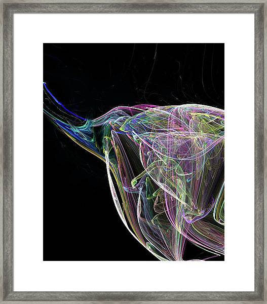 Elle-phant In Black Framed Print