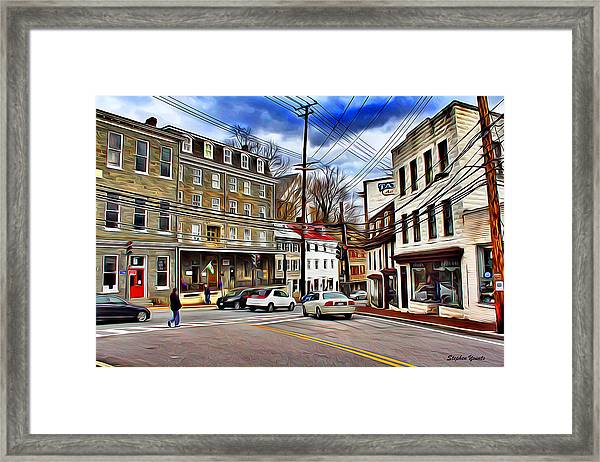 Ellicott City Streets Framed Print