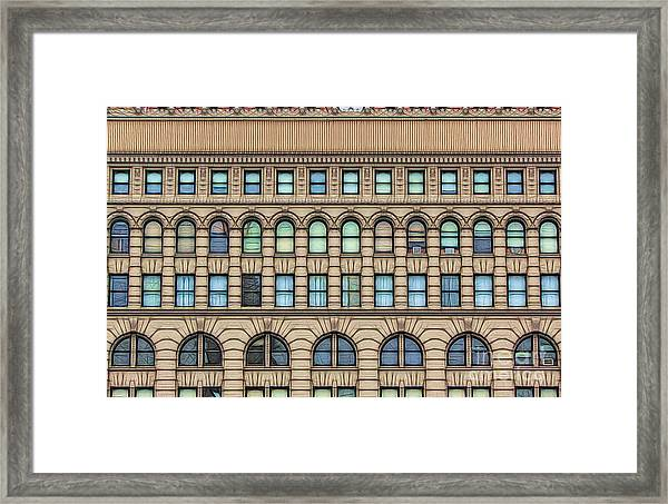 Ellicott Square Building Buffalo Ny Ink Sketch Effect Framed Print