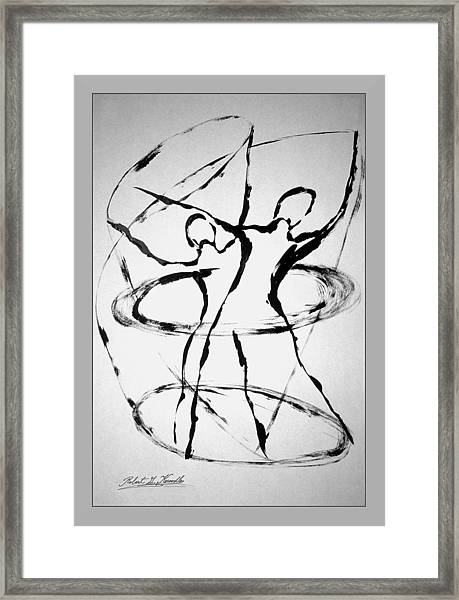 Elliptical Dervishes Framed Print