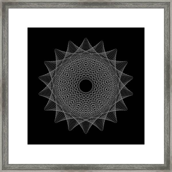 Elliptical Mesh IIik Framed Print