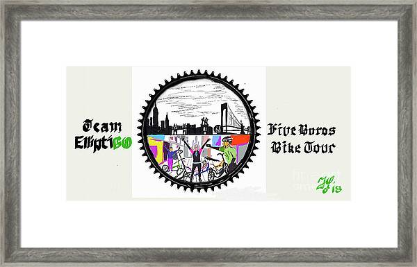 elliptiGO meets the 5 boros bike tour Framed Print