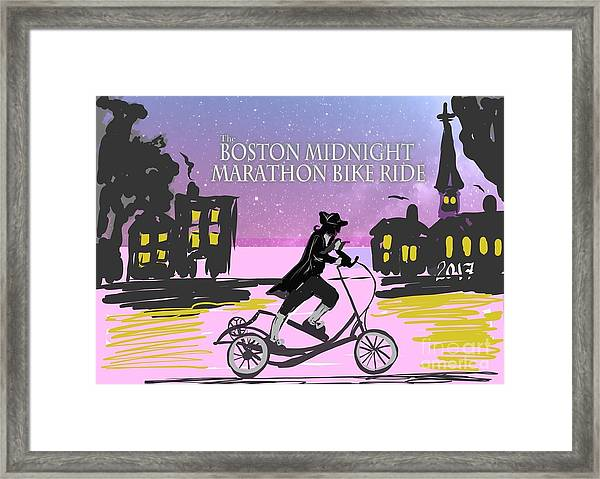 elliptigo meets the Midnight Ride Framed Print
