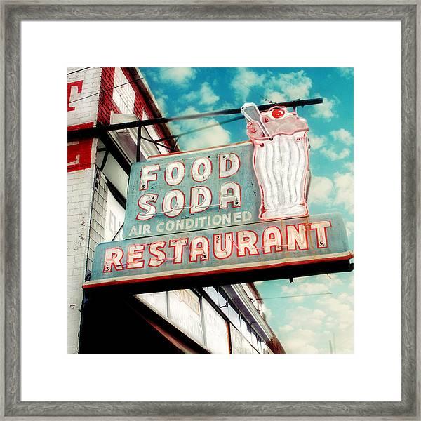 Elliston Place Soda Shoppe - Square Crop Framed Print