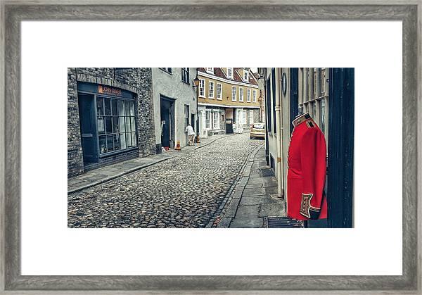 Elm Street Guard Framed Print