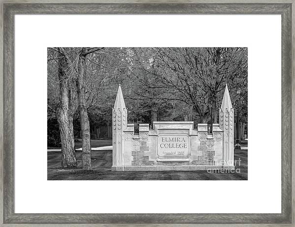 Elmira College  Framed Print by University Icons
