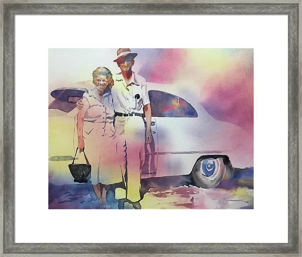 Elsie And Barney Shields Framed Print