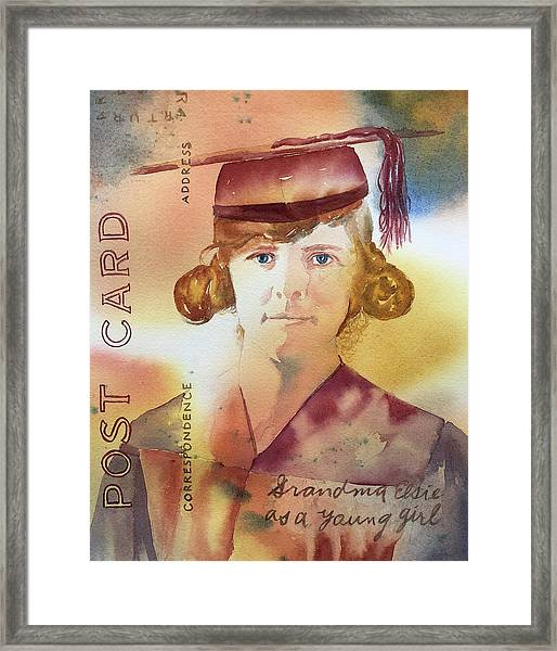 Elsie Circa 1915 Framed Print