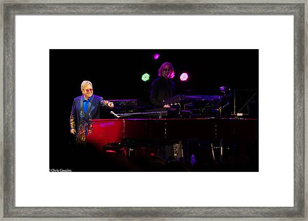 Elton - Enjoying The Show Framed Print
