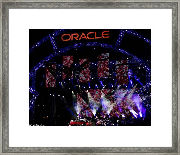 Elton John At Oracle Open World In 2015 Framed Print