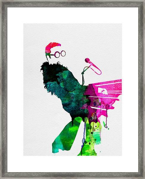 Elton Watercolor Framed Print
