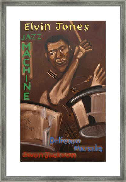 Elvin Jones Jazz Machine Framed Print