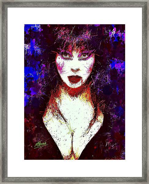 Elvira Mistress Of The Dark Framed Print