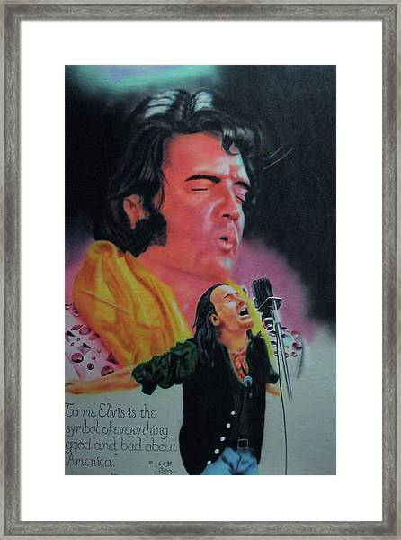 Elvis And Jon Framed Print