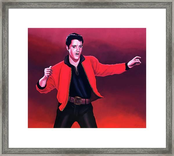 Elvis Presley 4 Painting Framed Print