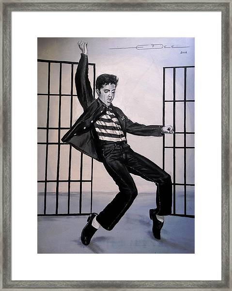 Elvis Presley Jailhouse Rock Framed Print