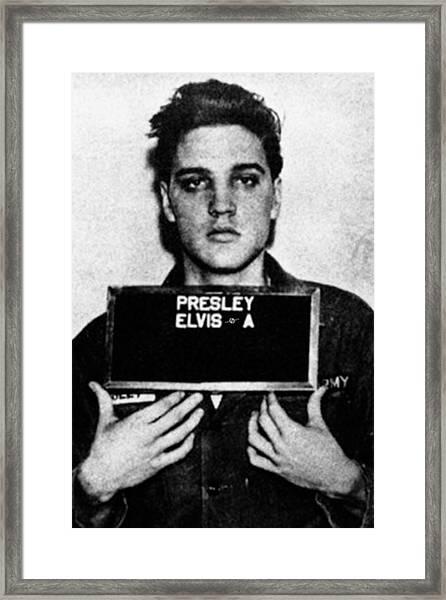 Elvis Presley Mug Shot Vertical 1 Framed Print