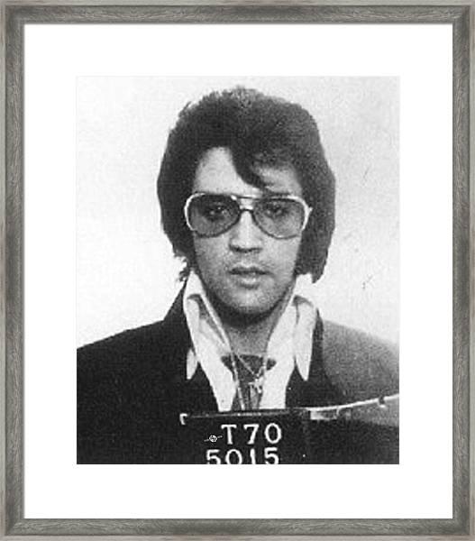 Elvis Presley Mug Shot Vertical Framed Print