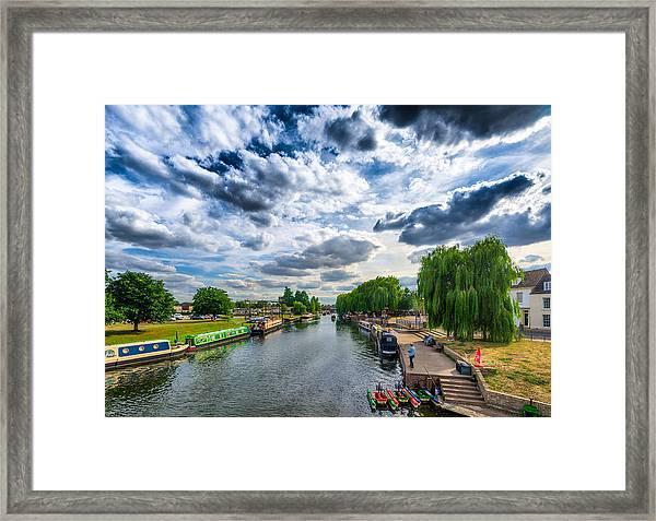 Ely Riverside Framed Print