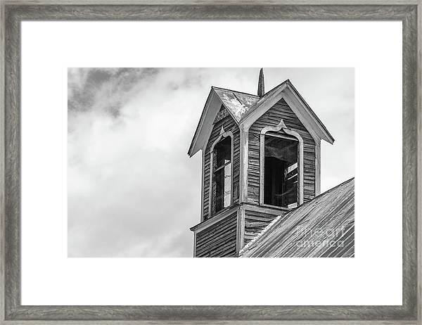 Ely Vermont Barn 1899 Barn Cupola Framed Print