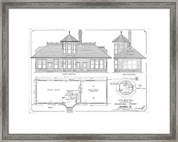 Elyria, Oh Station Framed Print