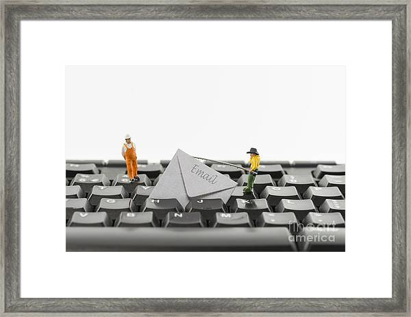 Email Fishing By Hackers Framed Print