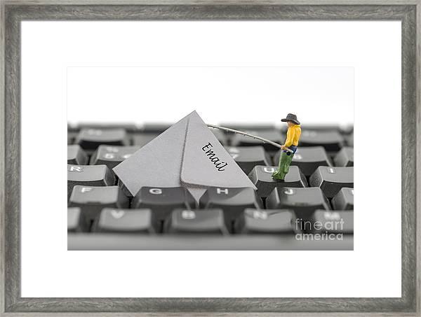 Email Fishing Framed Print