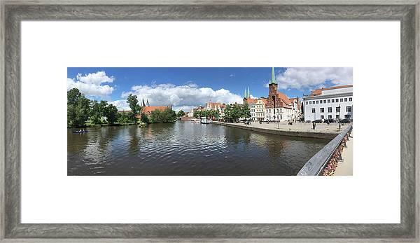 Embankment Of Trave In Luebeck Framed Print