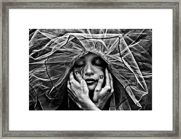 Framed Print featuring the photograph Embrace by Joseph Casey