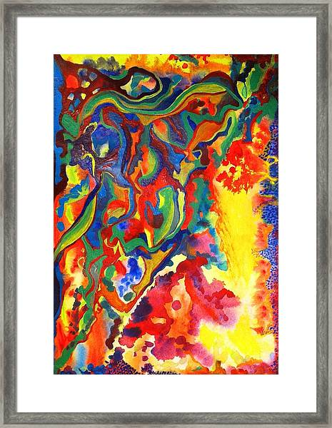Embroiled Framed Print