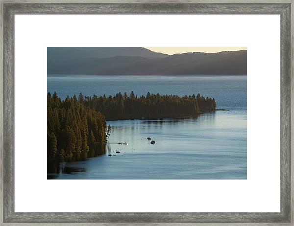 Emerald Bay Channel Framed Print