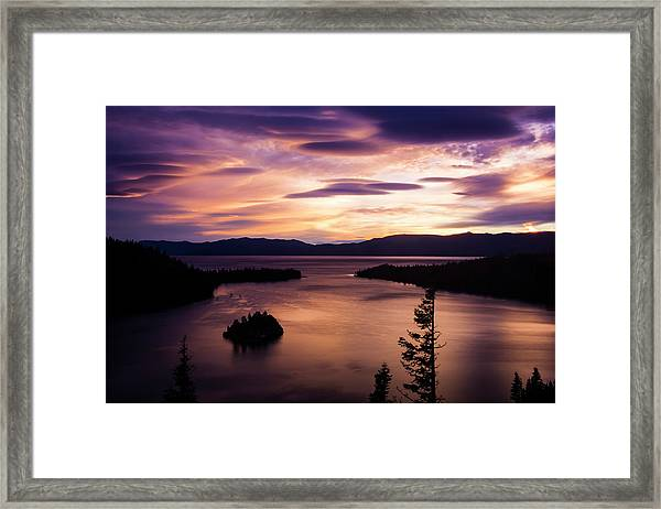 Emerald Bay Sunrise - Lake Tahoe, California Framed Print