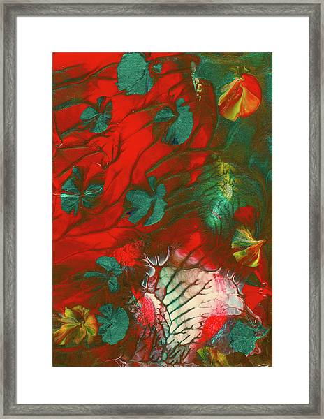 Emerald Butterfly Island Framed Print