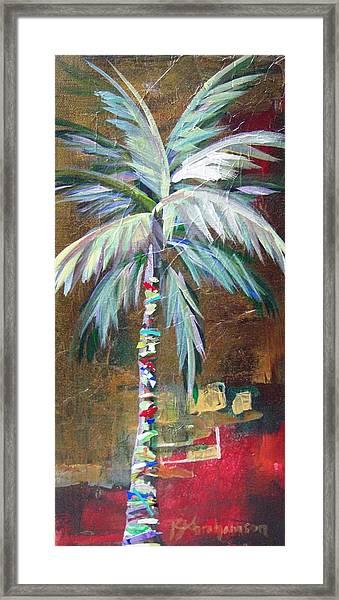 Emerald Fire Palm  Framed Print